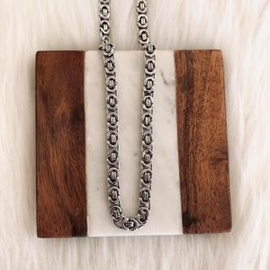 Men link chain, sterling silver links chain